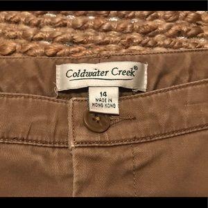 Coldwater Creek Pants - Coldwater Creek Wide Leg Khakis